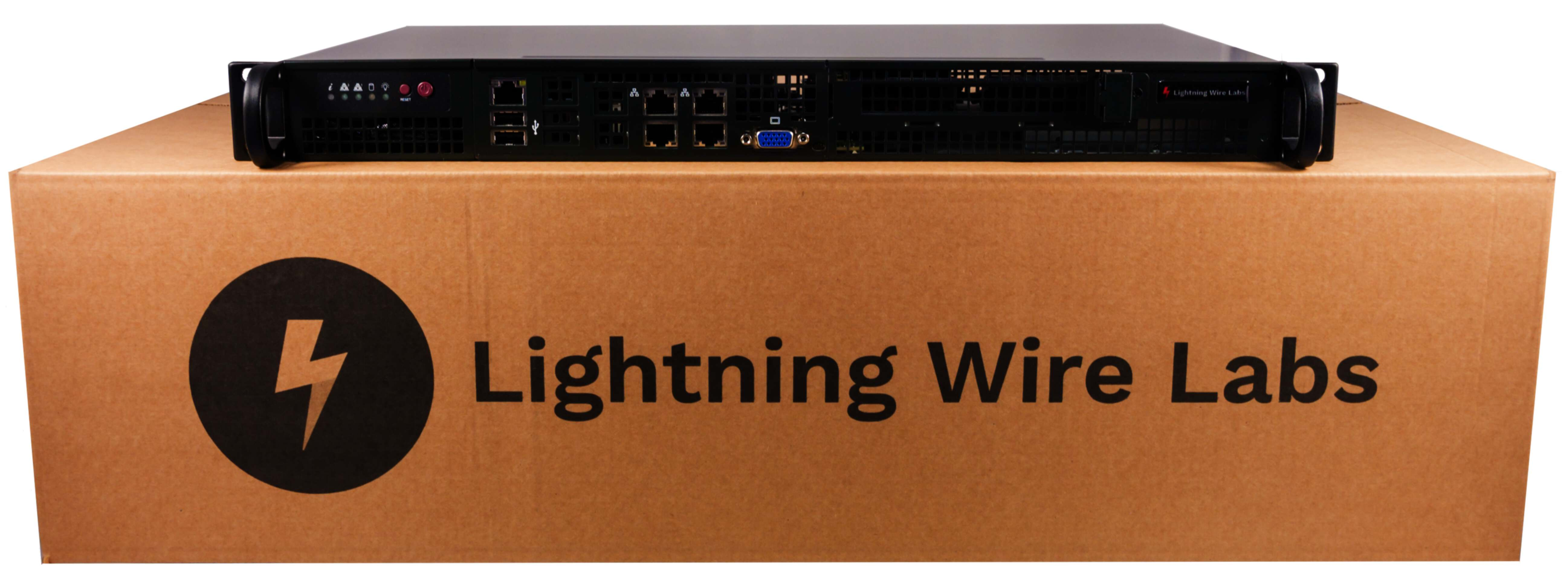 Lightning Wire Labs Appliance on Box